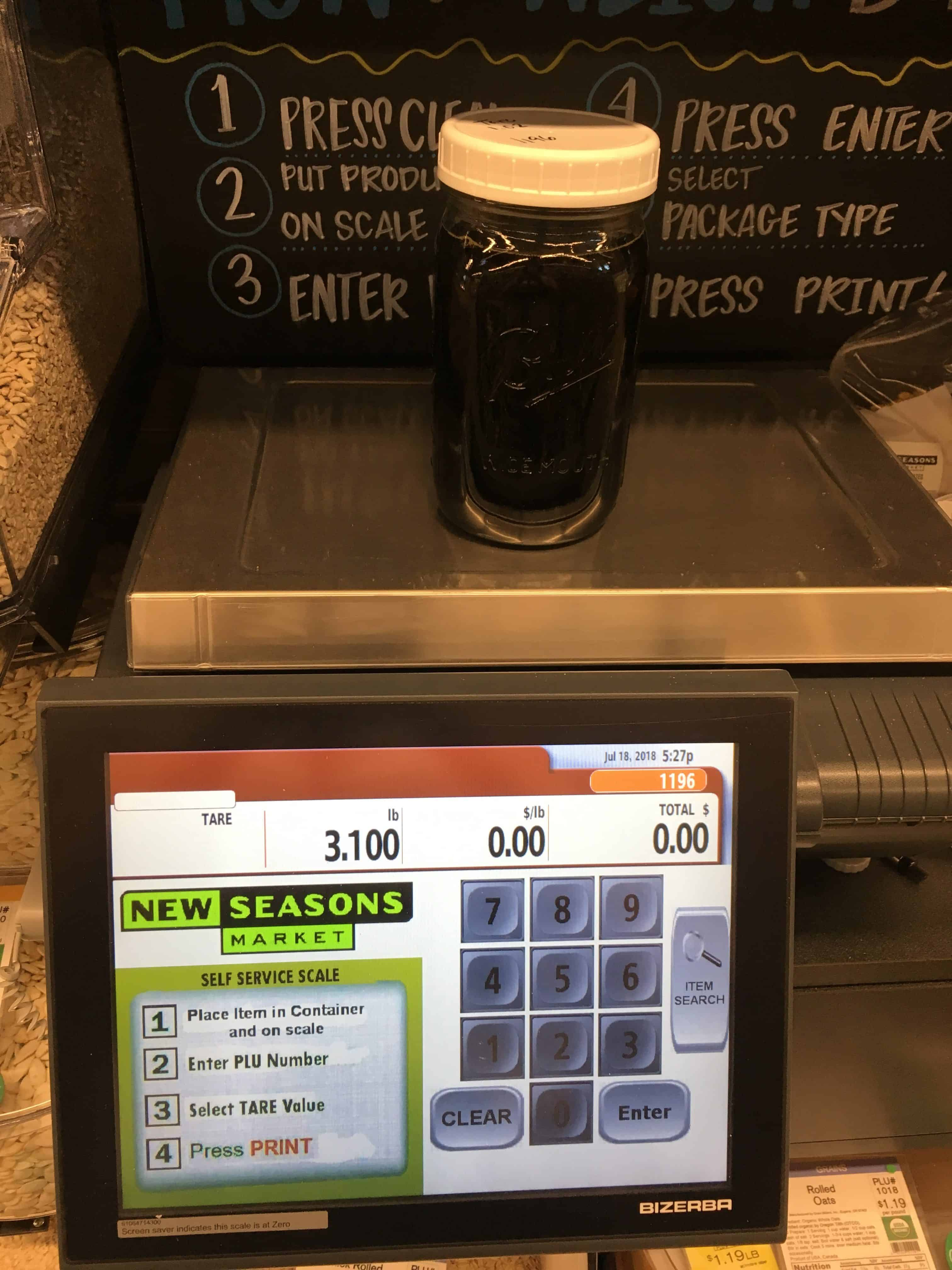 Weigh station from New Seasons Market. https://trimazing.com