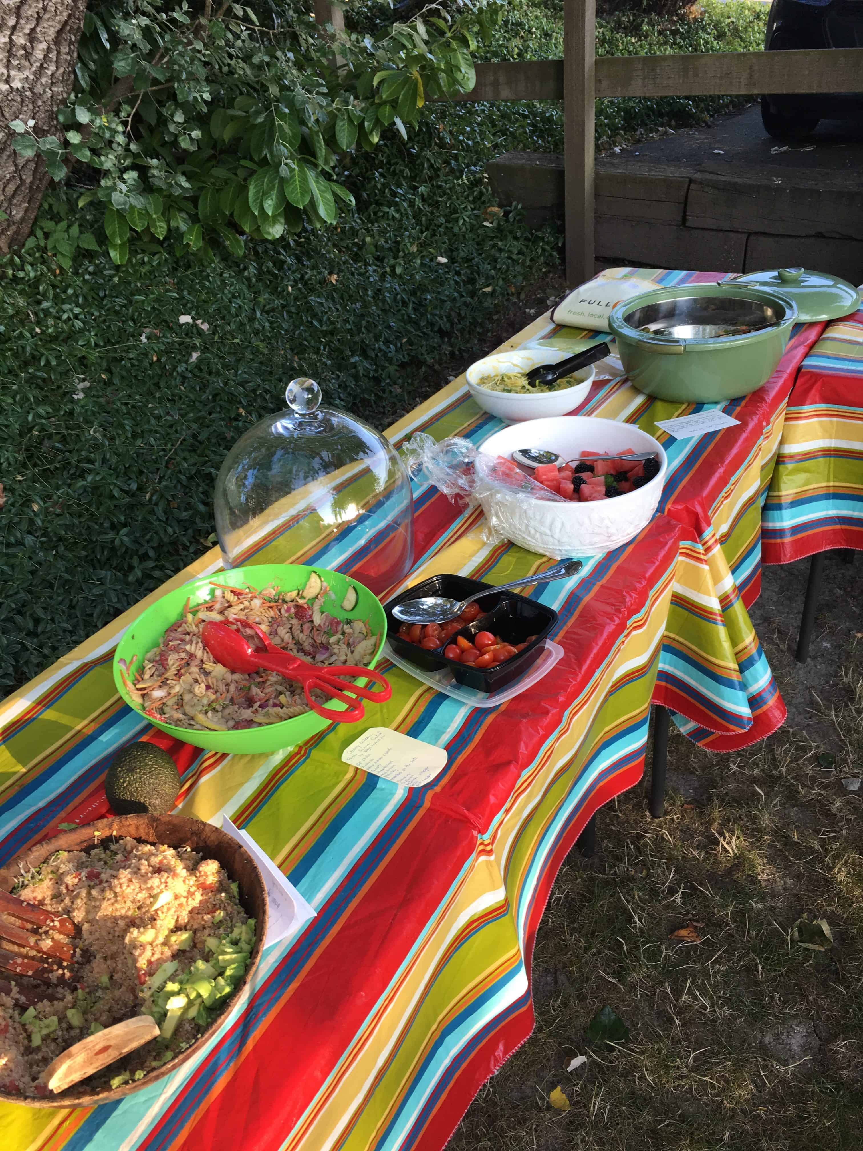 Great spread at Sno-Valley Vegan Potluck. https://trimazing.com/