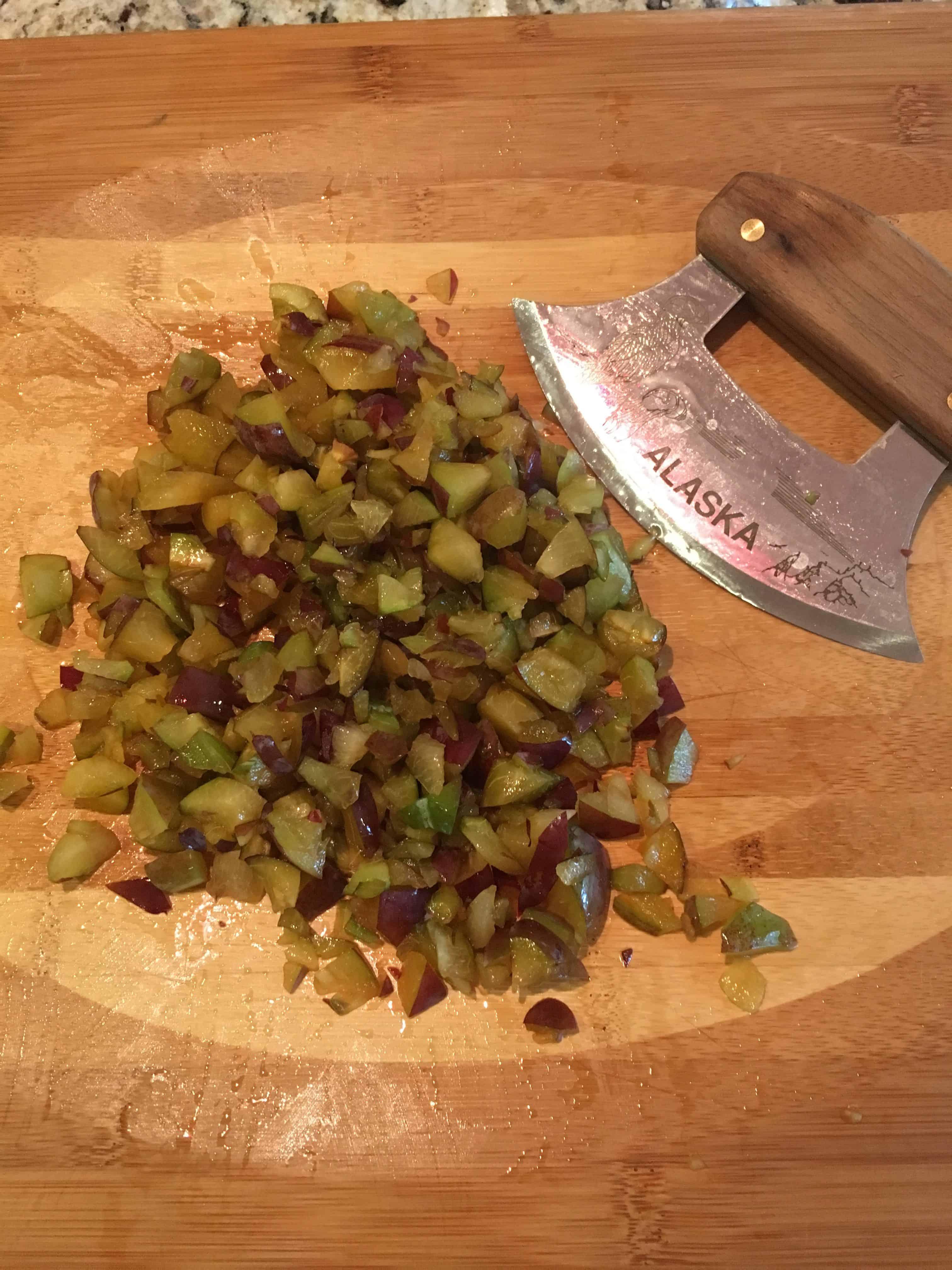 Ulu-chopped Italian plums. https://trimazing.com