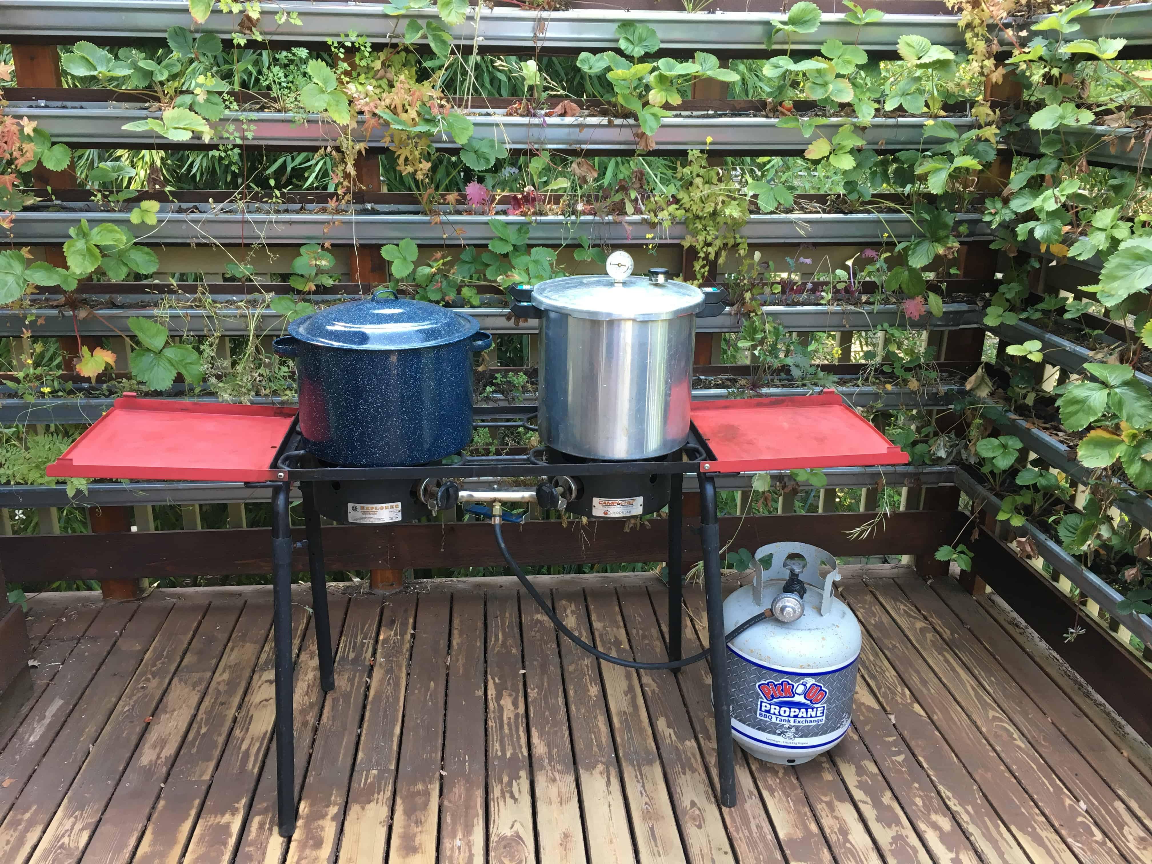 Home canning setup. https://trimazing.com
