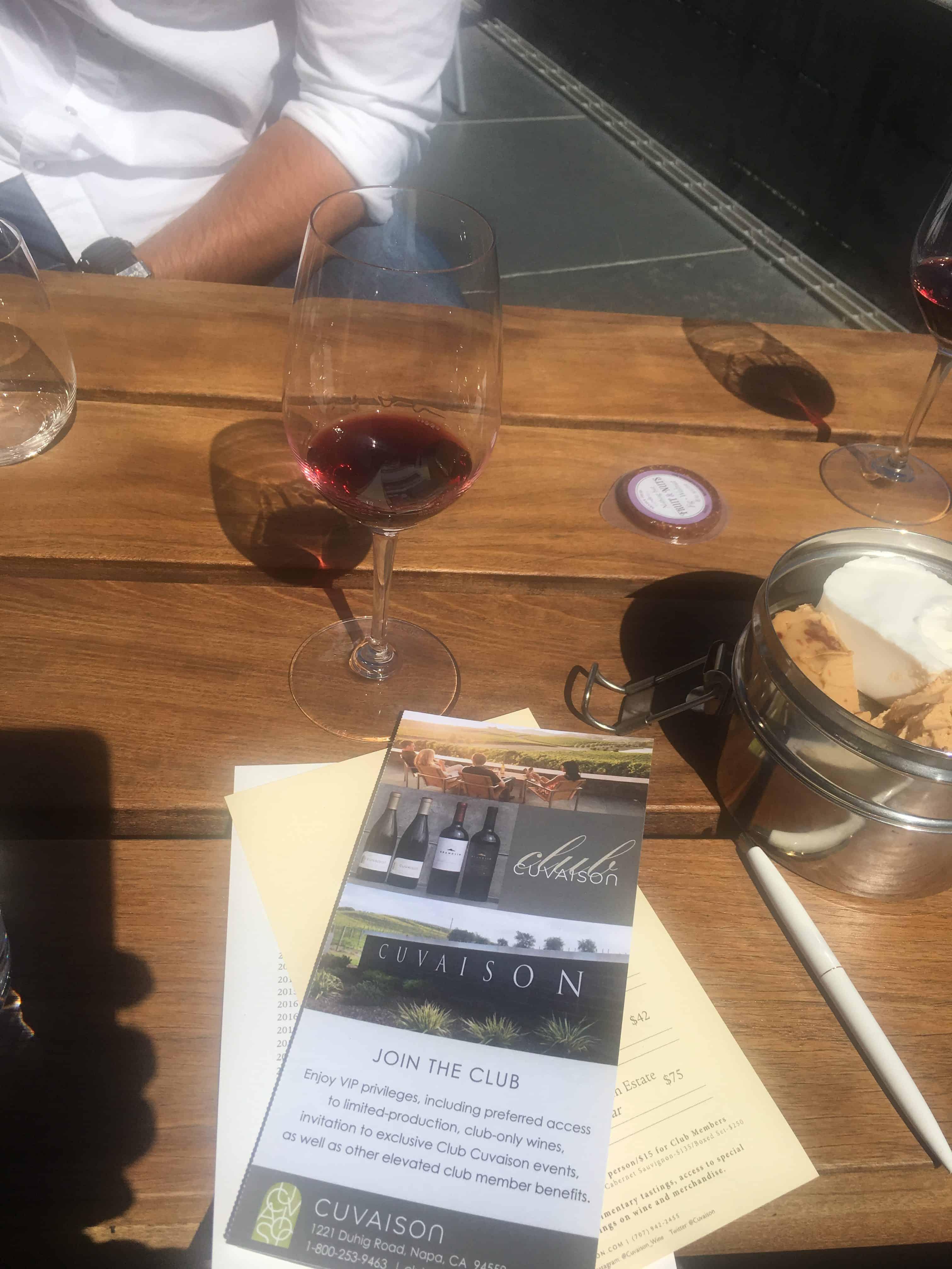 Wine tasting at Cuvaison in Napa. https://trimazing.com/