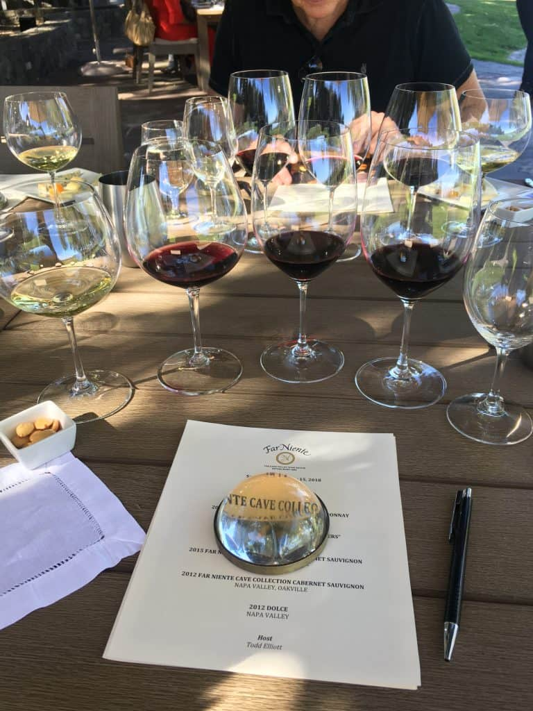 Wine Tasting at Far Niente in Napa. https://trimazing.com/