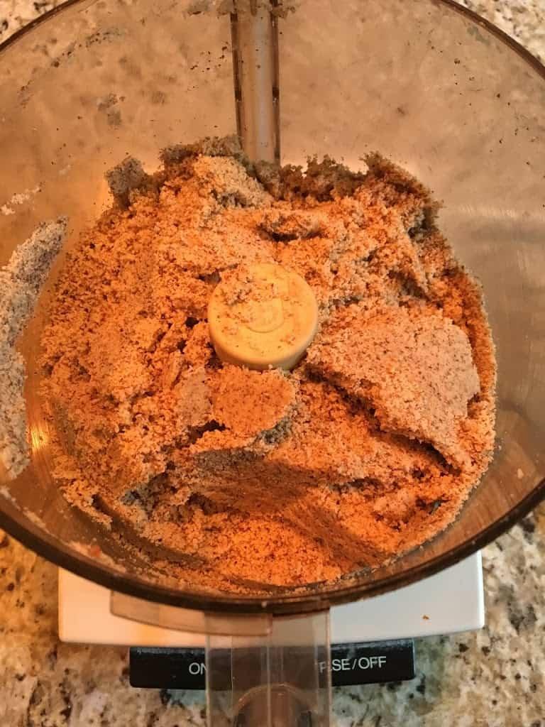 Processed almond flour beginning to clump. https://trimazing.com/