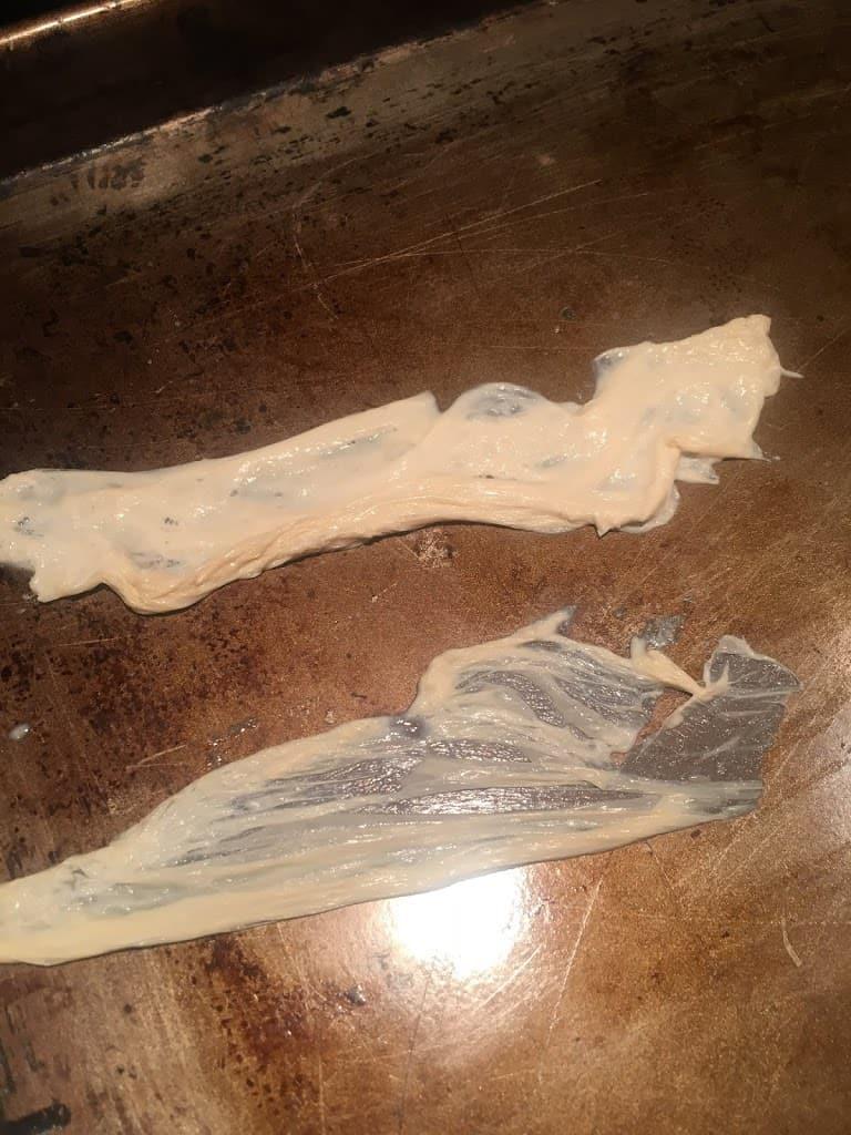 Yuba on baking sheet. https://trimazing.com
