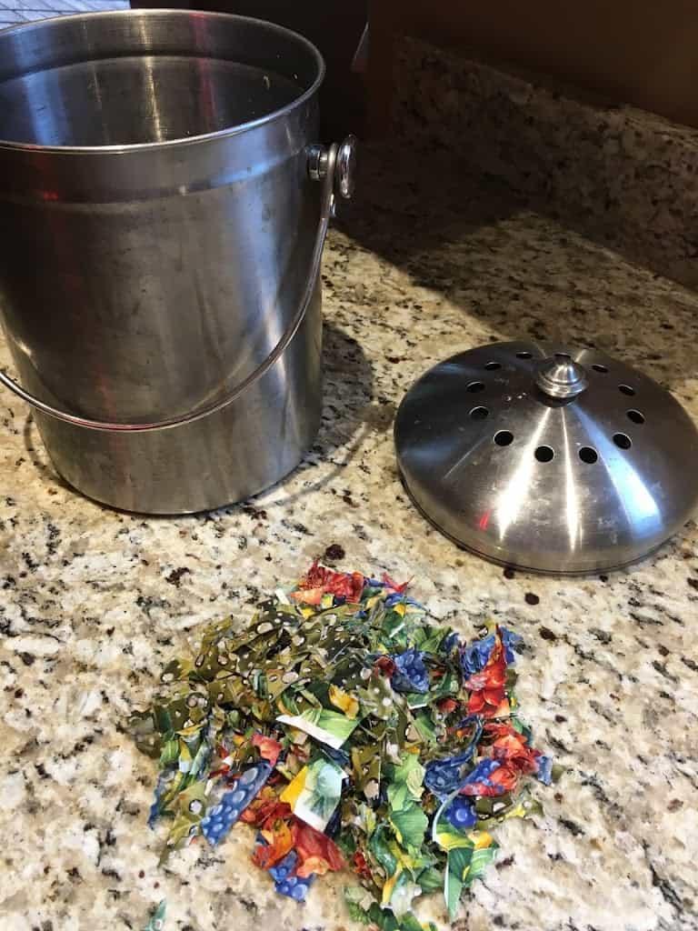 Fabric scraps for the compost bin. https://trimazing.com/