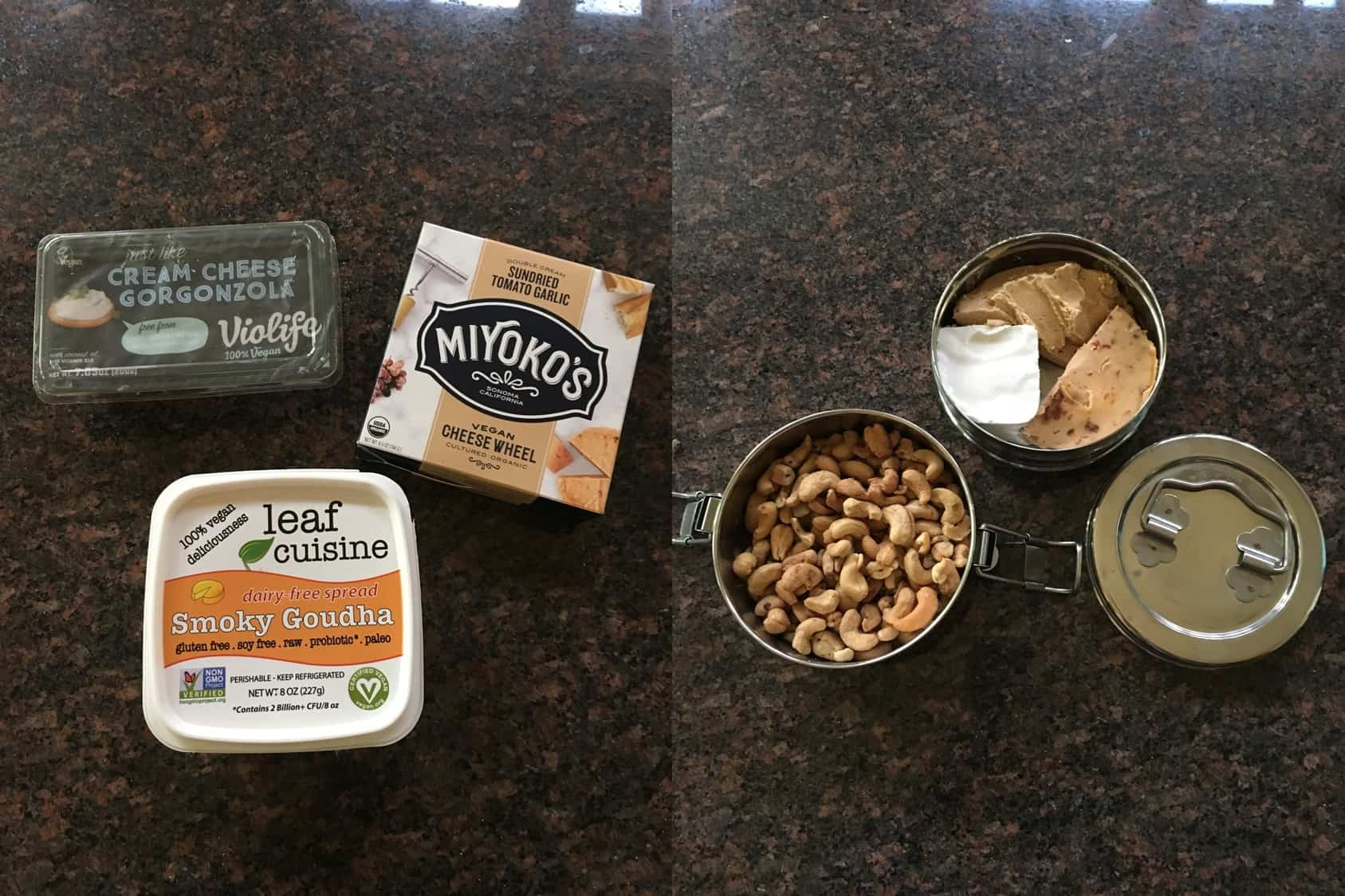 Vegan cheese and nuts we brought to wine tasting. https://trimazing.com/