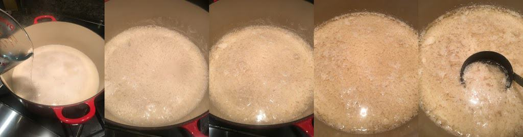 Progression of curdling soy milk. https://trimazing.com/