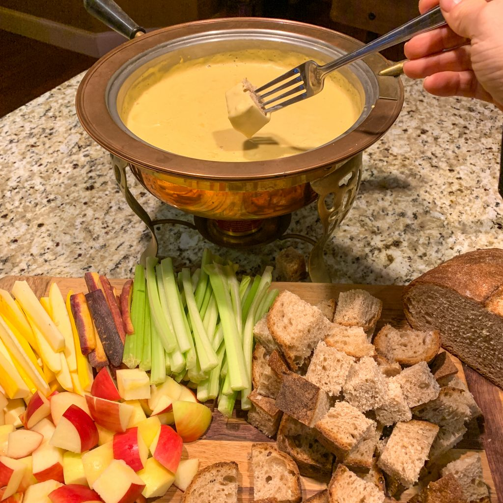 Nothing beats hot, bubbly fondue after a day in the snow!