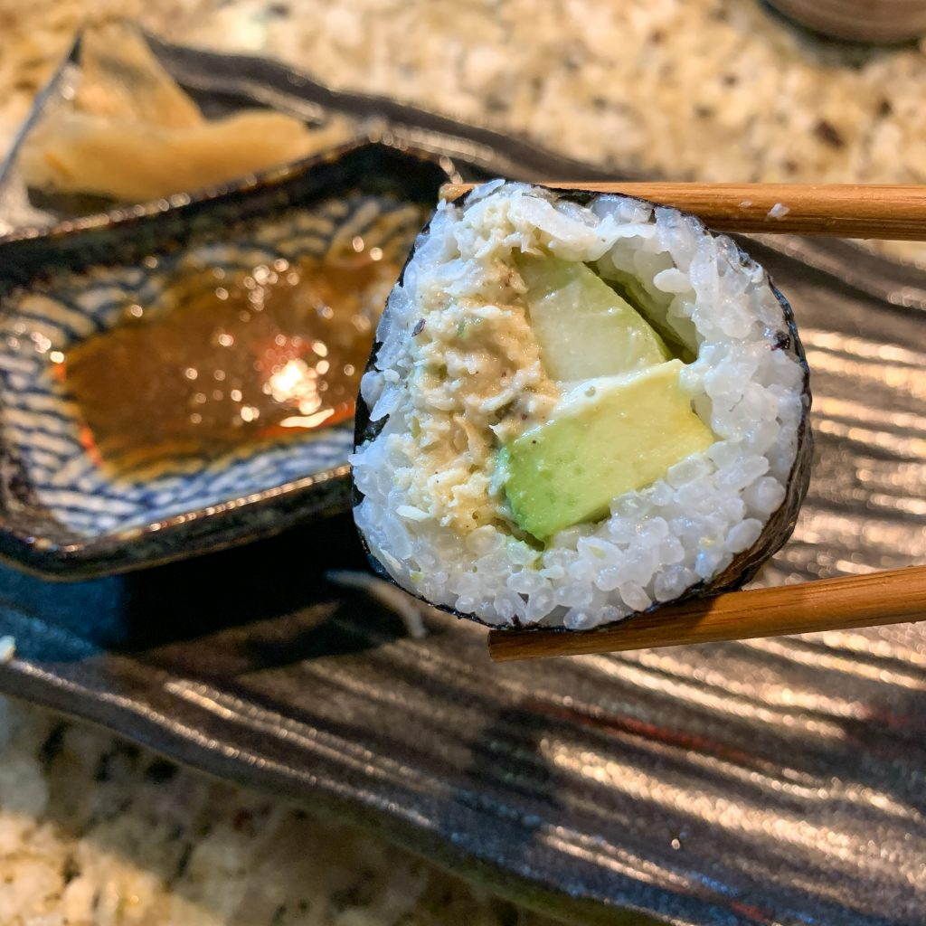Spicy Mock Crab California Roll. Yum!
